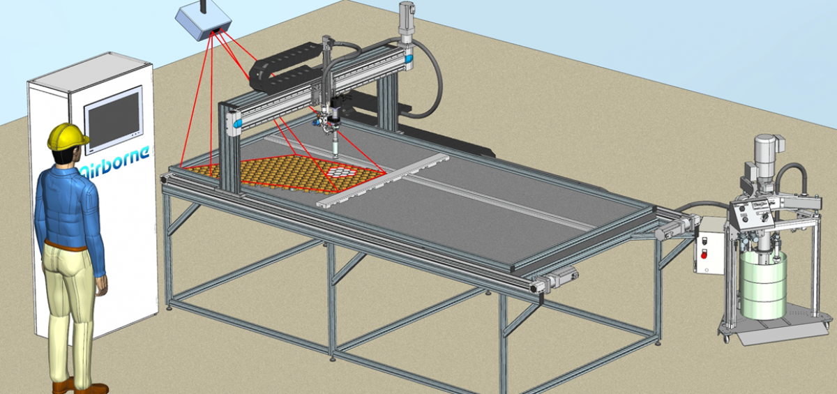 Automated Honeycomb Potting by Airborne